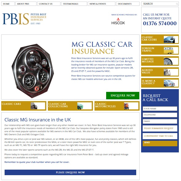 PBIC web banner for insurance