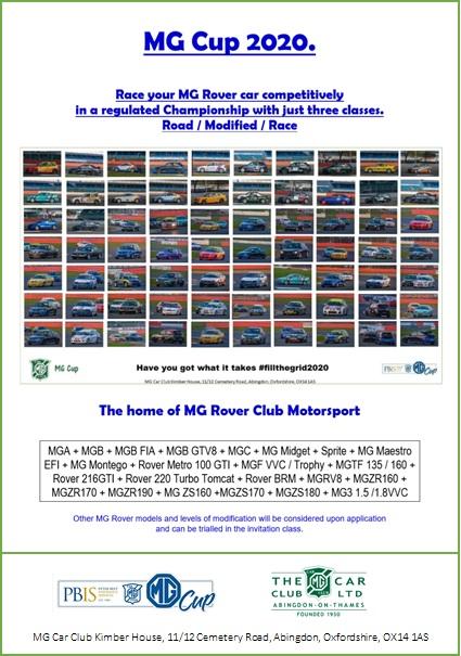 2020 MG Cup Regs